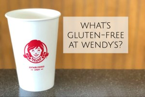 Wendy's gluten-free menu header