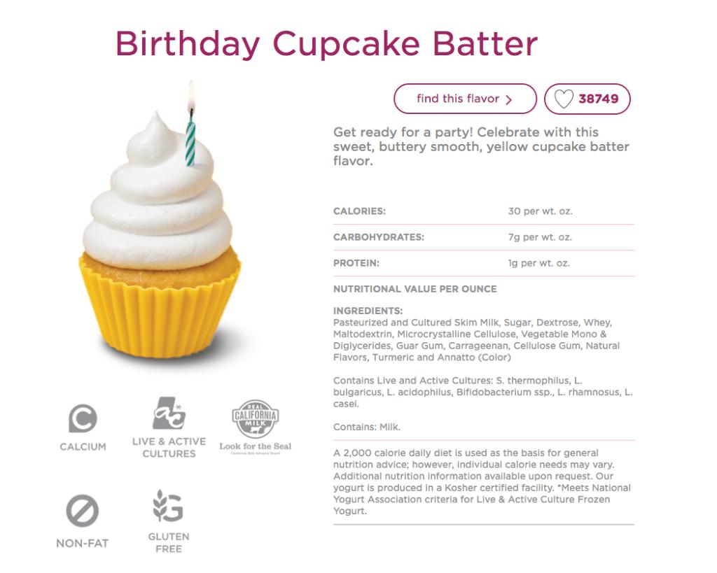 Birthday Cake Batter FroYo