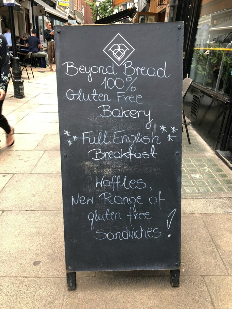 Beyond Bread sign in London