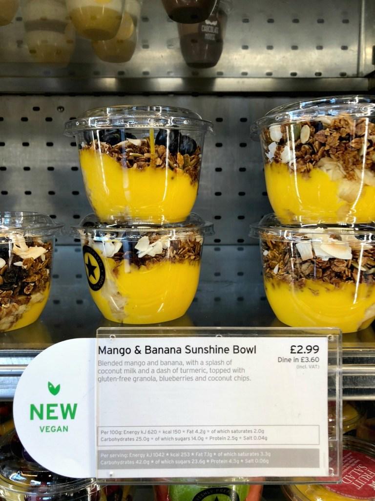 Gluten-Free at Pret a Manger Mango Bowls