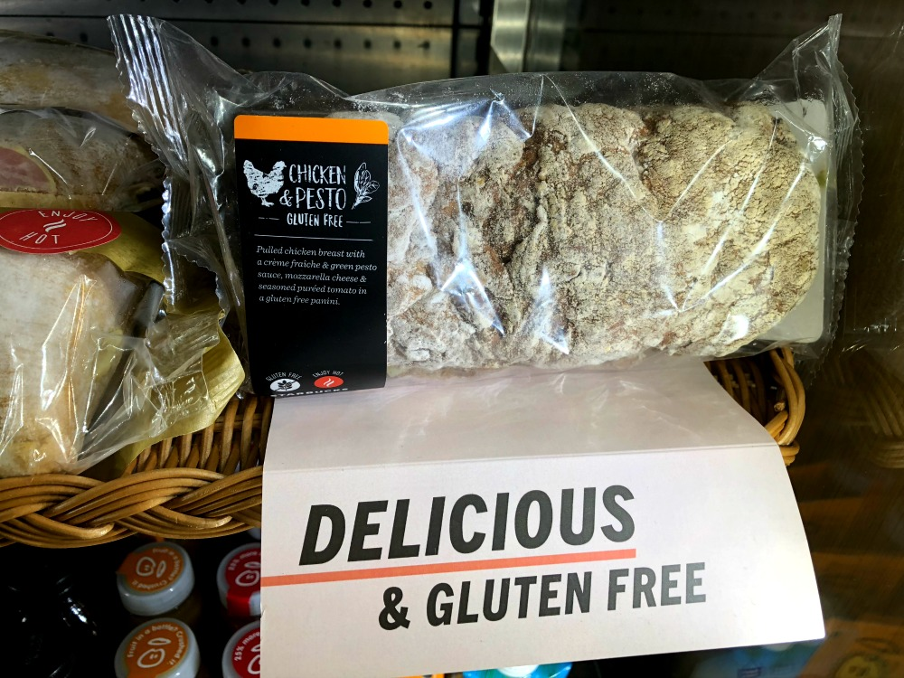 Gluten-free Chicken Pest sandwich at Starbucks UK