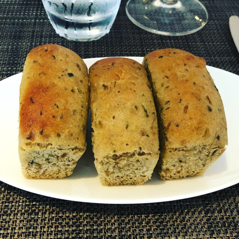 gluten-free bread at Indigo restaurant in London