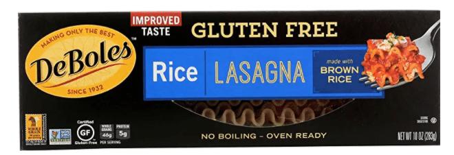 eboles gluten free rice lasagna