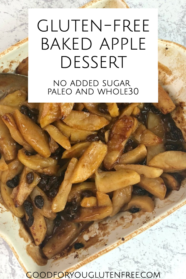 Baked apple recipe - paleo, gluten-free, no added sugar - Good For You Gluten Free