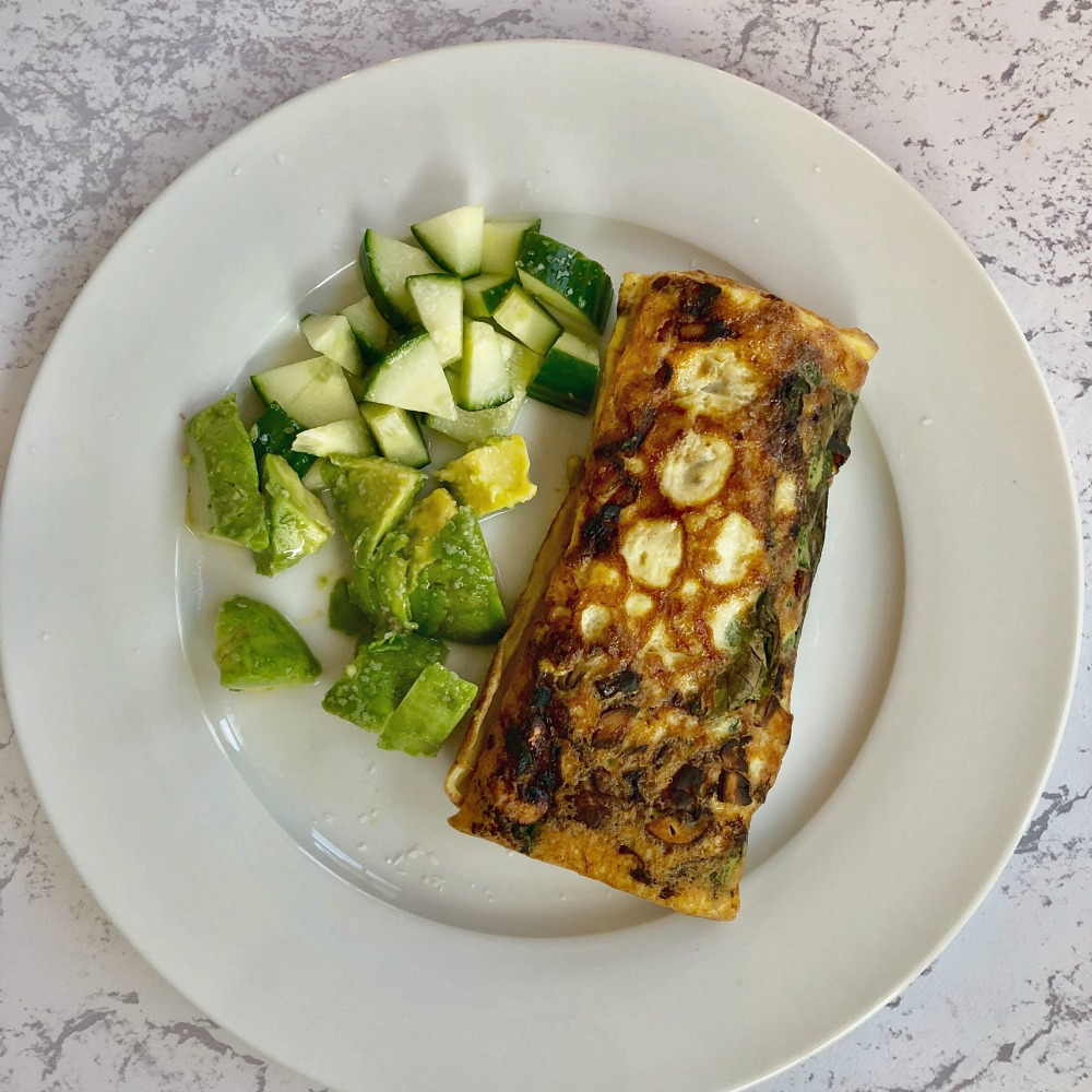 Whole 30 Breakfast Recipes - rolled omelette with avocado