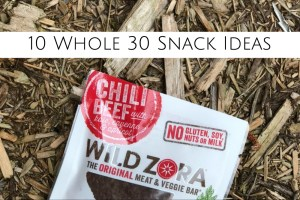 Whole 30 Snack Ideas - header
