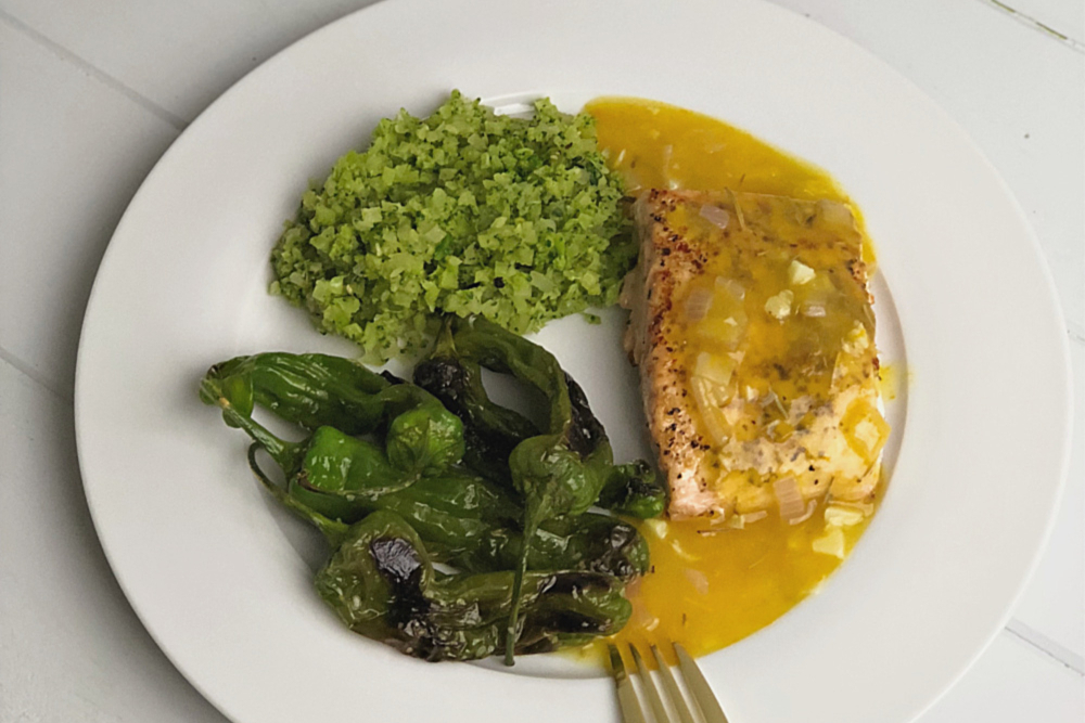 Whole30 Salmon with Orange Sauce header