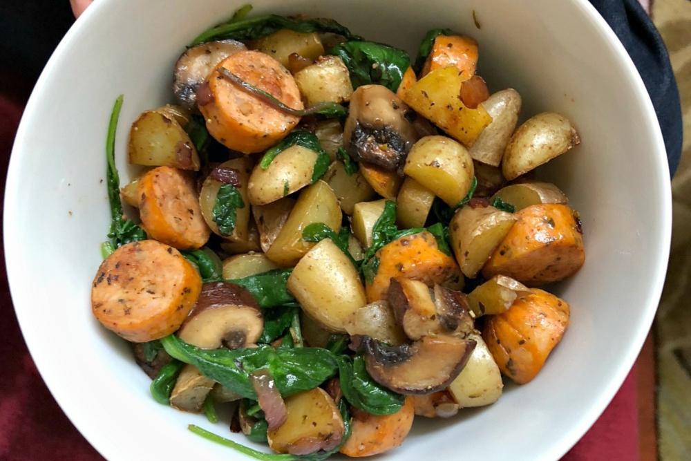 Whole30 Savory Sausage and Potato Stir Fry