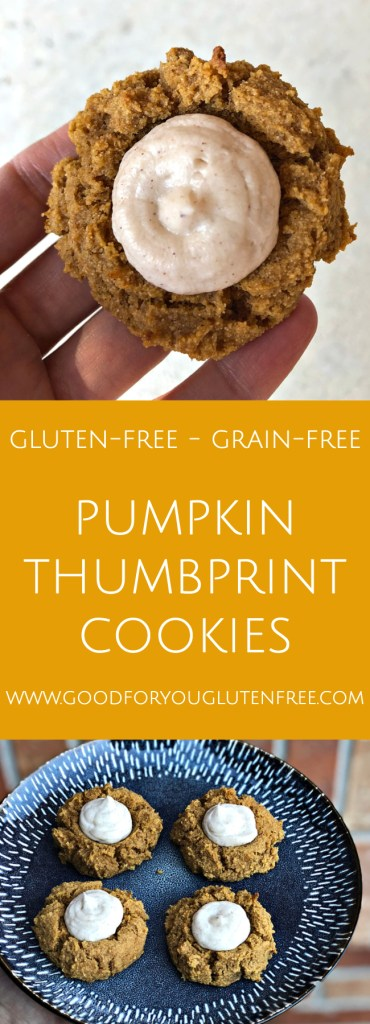 Gluten-Free Pumpkin Thumbprint Cookies - Good For You Gluten Free #cassavaflour #grainfree #glutenfree #cookierecipe 2