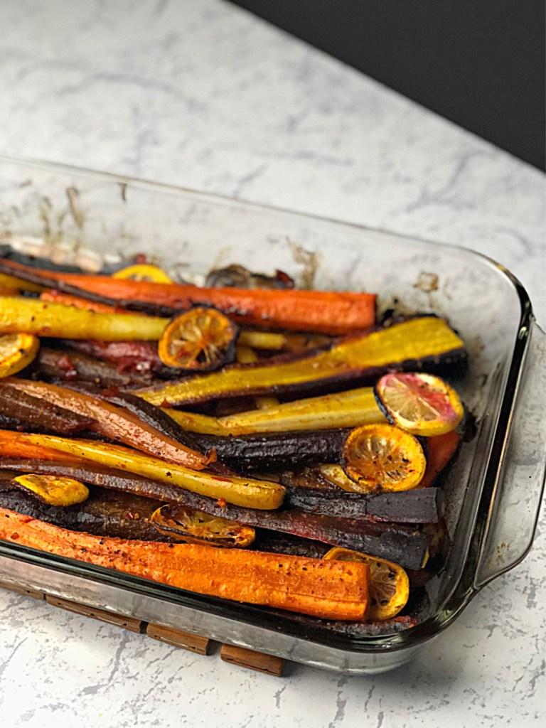 Harissa Roasted Carrots 1
