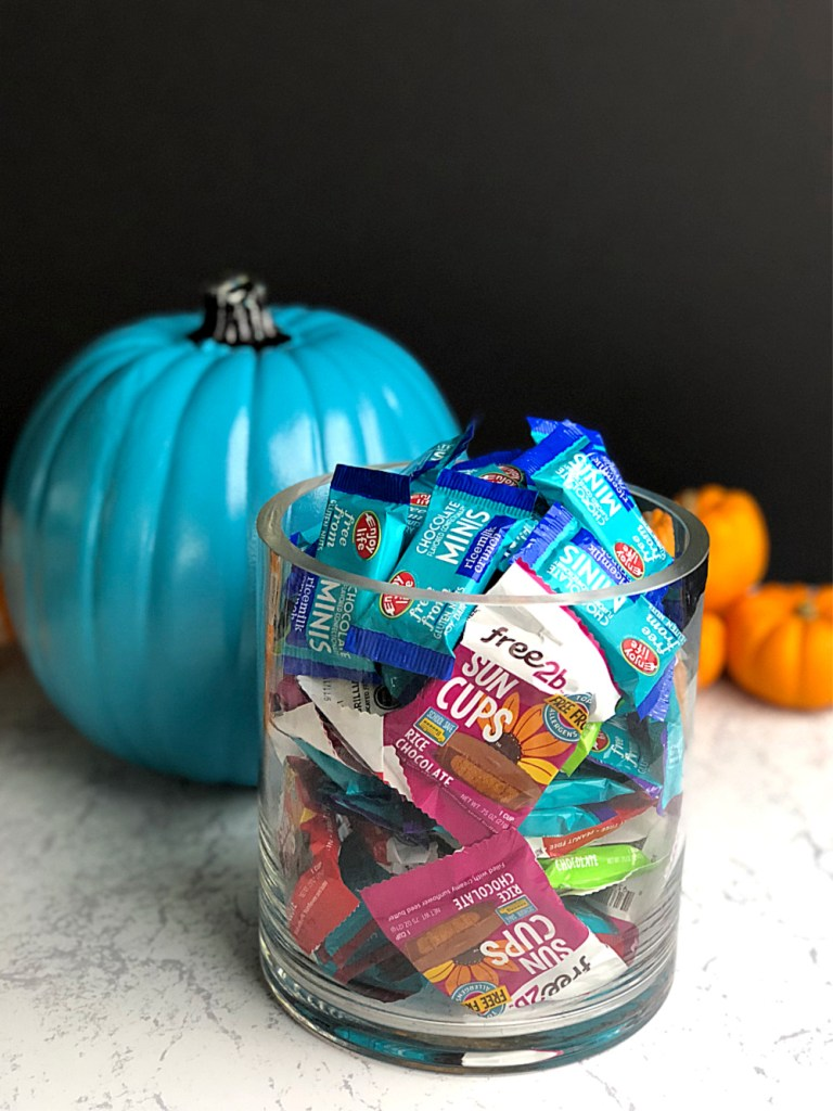 Teal Pumpkin Project candy jar