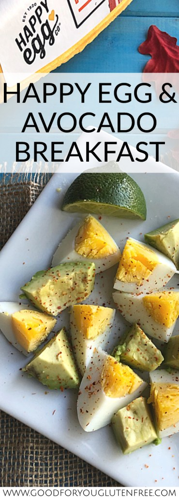 Happy Egg and Avocado Breakfast - Good For You Gluten Free #breakfast #happyhenhappyegg #freesetfreerange @AD