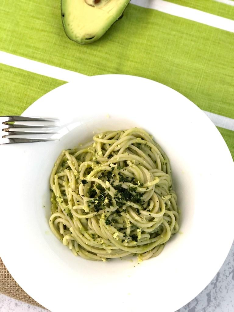Gluten-Free Avocado Pesto Pasta 5