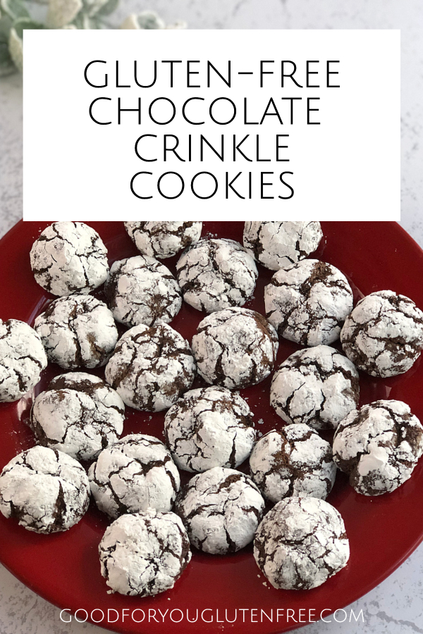 Gluten free chocolate crinkle cookies recipe