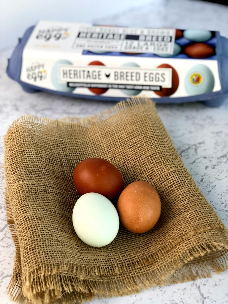 Happy Eggs out of the carton