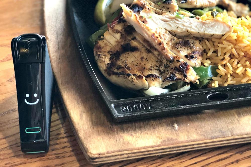 What gluten-free at Chili's header - Nima Sensor testing fajitas