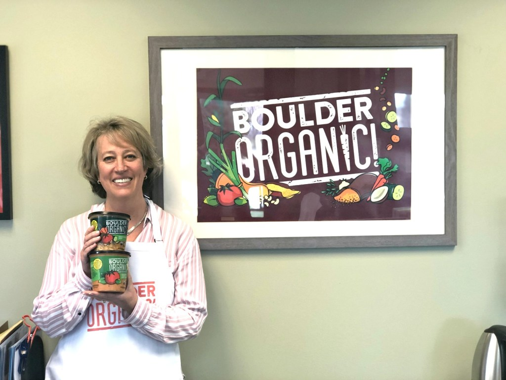 Kate Brown CEO of Boulder Organic Soup at her offices