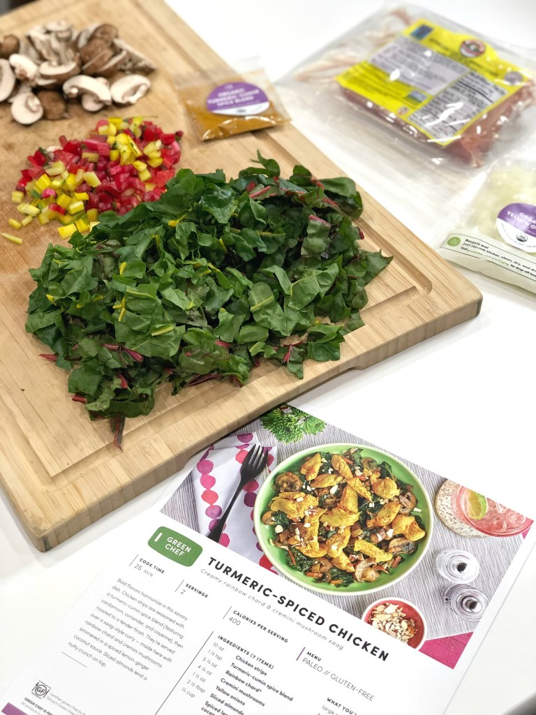 Preparing Green Chef Ingredients