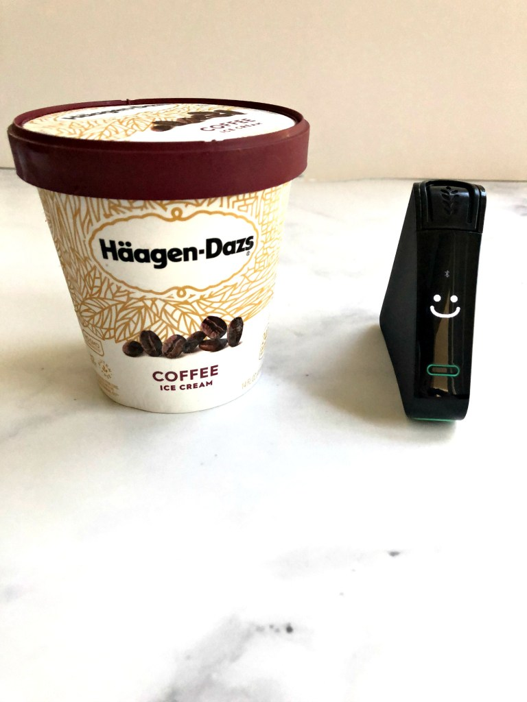 Haagen-Dazs carton with smiling Nima Sensor