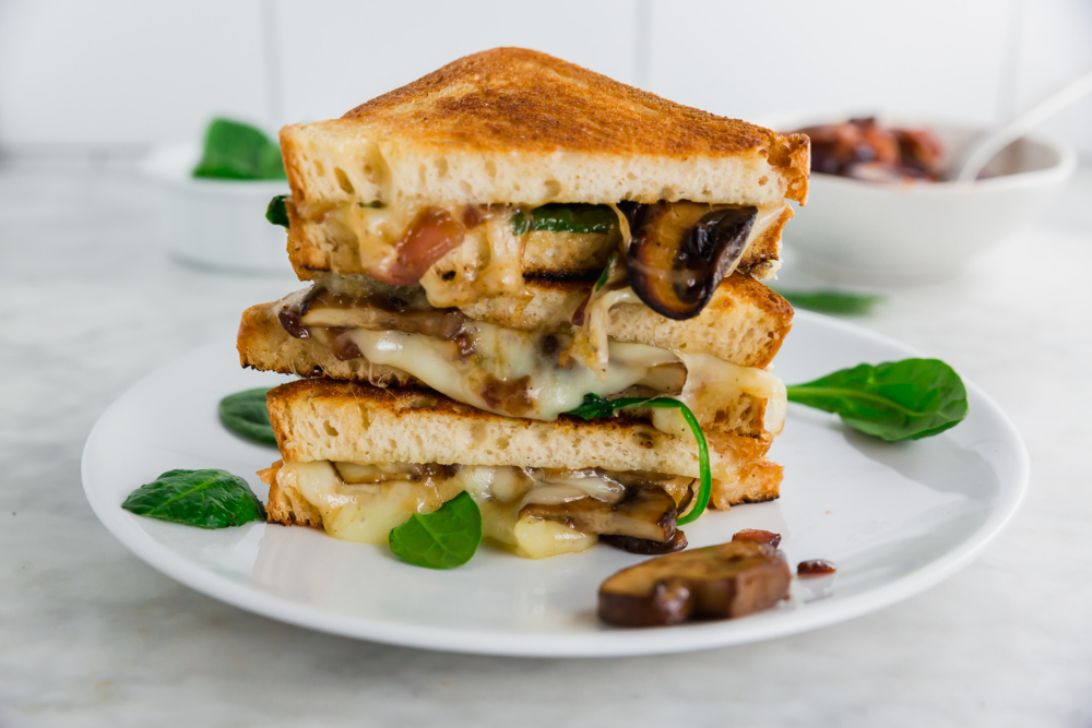 Grown up gluten-free grilled cheese sandwich header