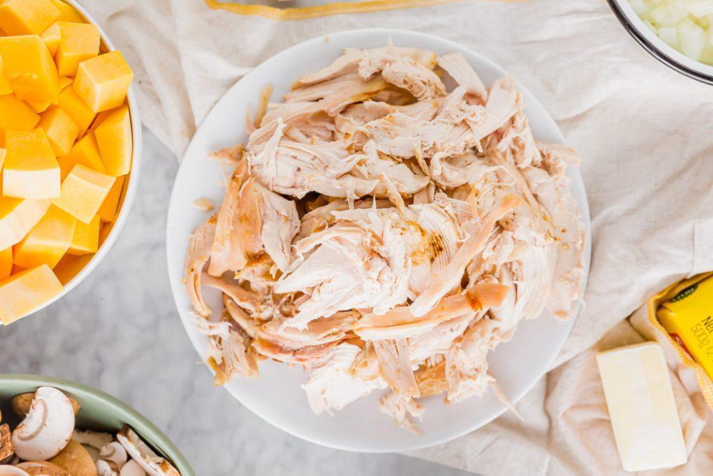 shredded rotisserie chicken