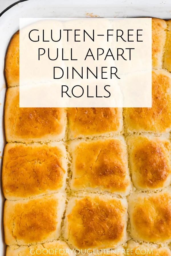 Pull Apart Gluten-Free Dinner Rolls Recipe - Pin