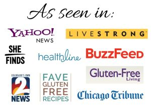 Logos of publications that Good For You Gluten Free has been featured in