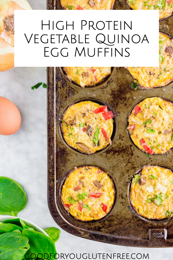 High-Protein Vegetable Quinoa Egg Muffins on Good For You Gluten Free