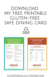 Download free printable gluten-free safe dining card - Good For You Gluten Free