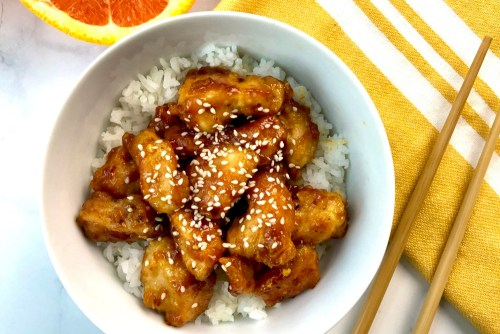 Gluten-free orange chicken header