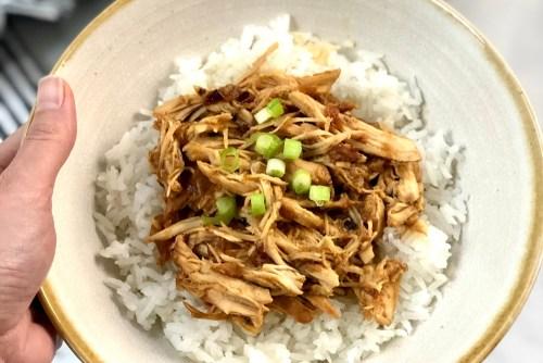 Gluten-free teriyaki chicken slow cooker header