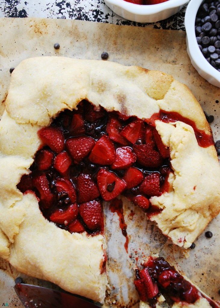 Gluten-Free Strawberry Chocolate Galette by Allergy Awesomeness