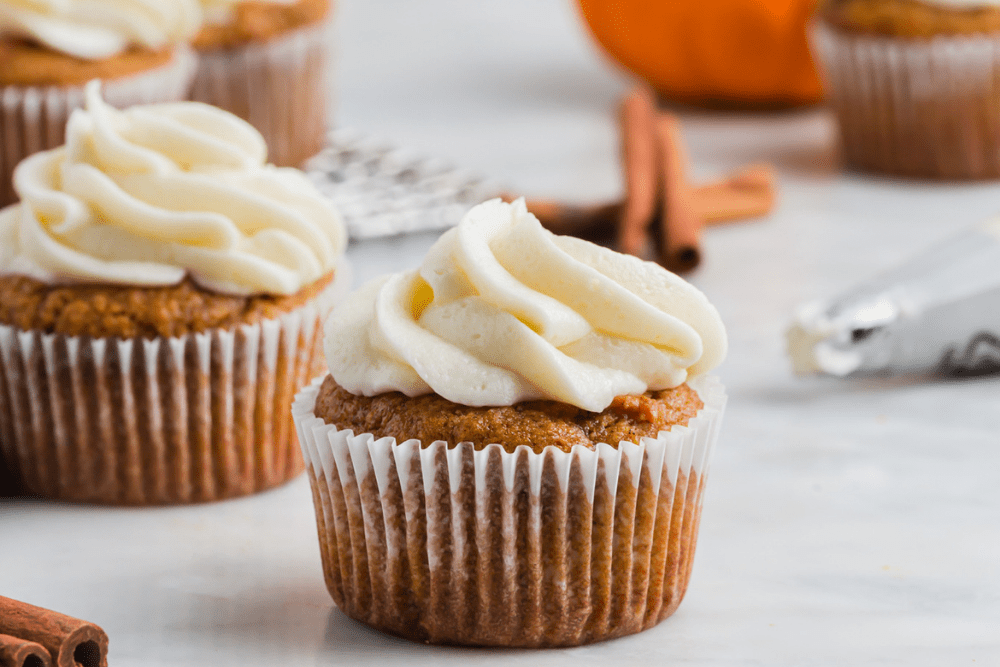 Picture of pumpkin cupcake made with almond flour