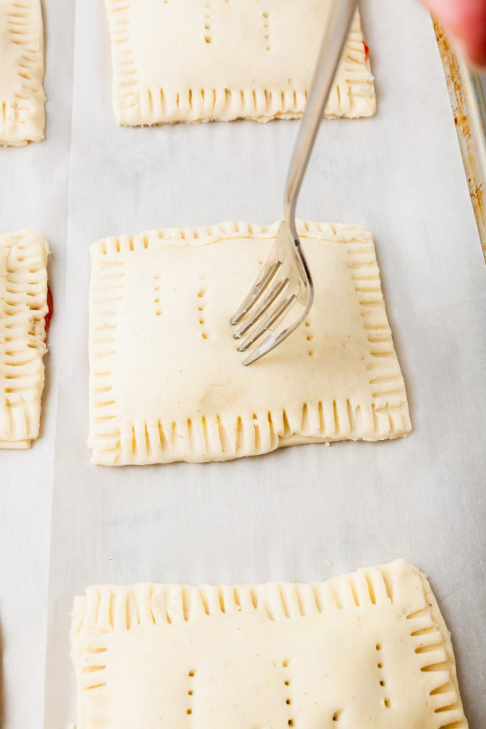Adding fork holes in top to vent pop tarts