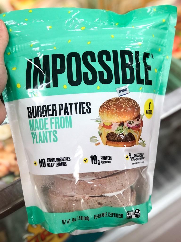 Impossible Burger patties found at Trader Joe's