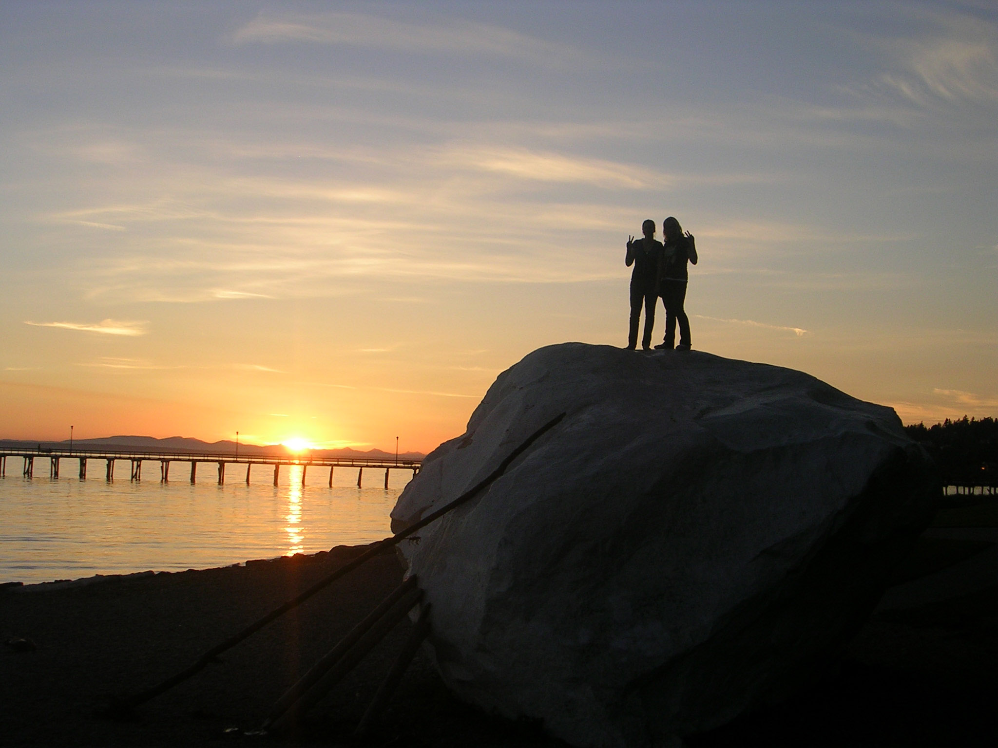 Free Fall Wallpaper Images White Rock Sunset Scenic In British Columbia Canada Image