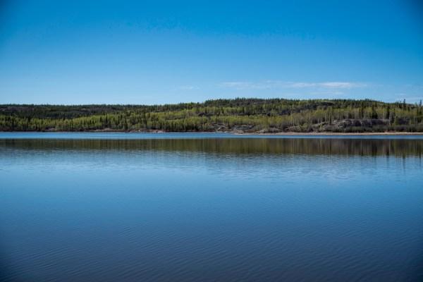 lake and shoreline landscape
