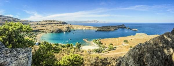 seaside landscape view in greece