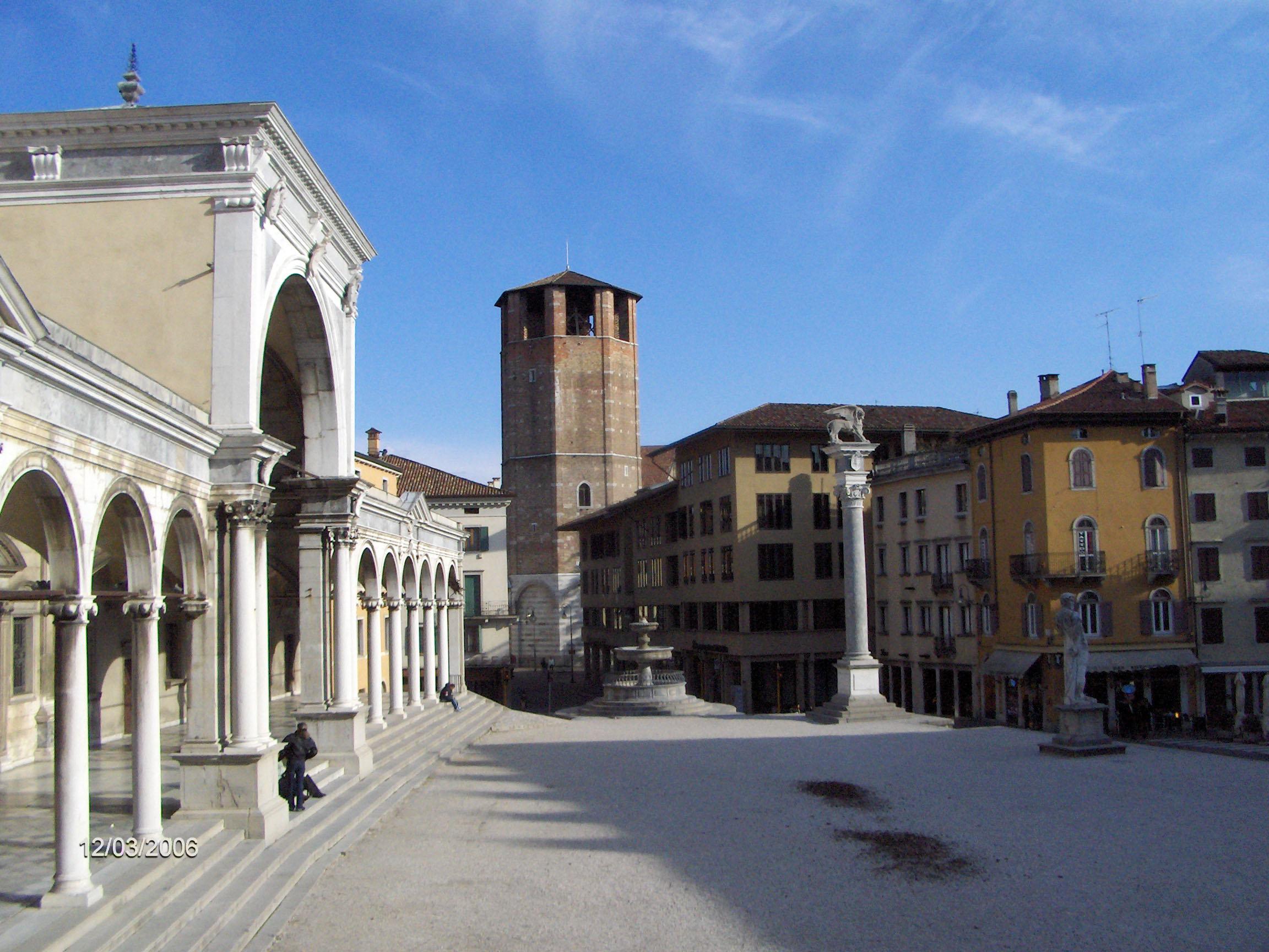Piazza della Libert and the Loggia di San Giovanni in Udine Italy image  Free stock photo