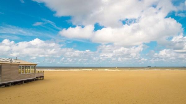 beautiful beach landscape under