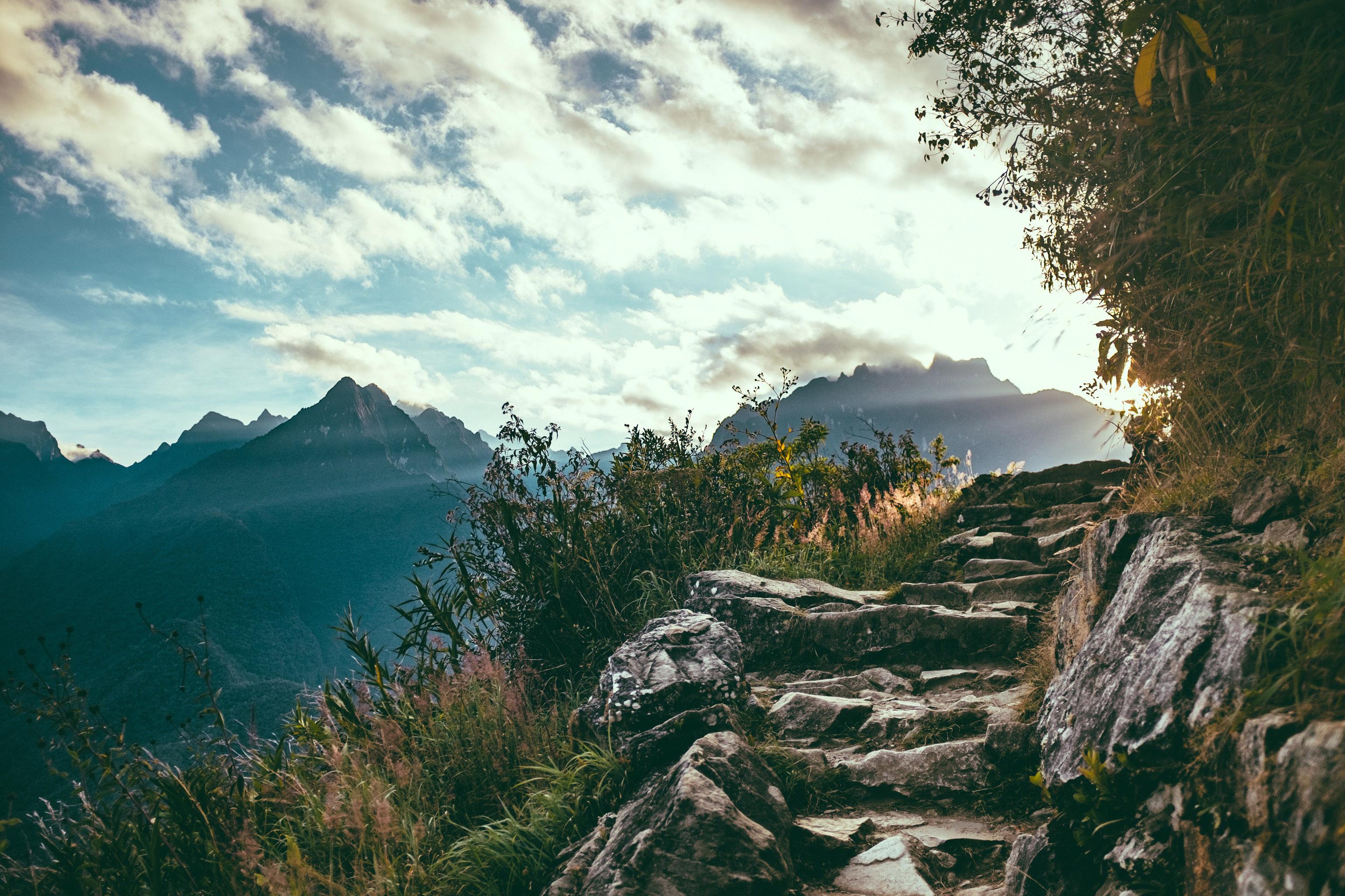 Steps Up The Mountain In Machu Picchu Peru Image