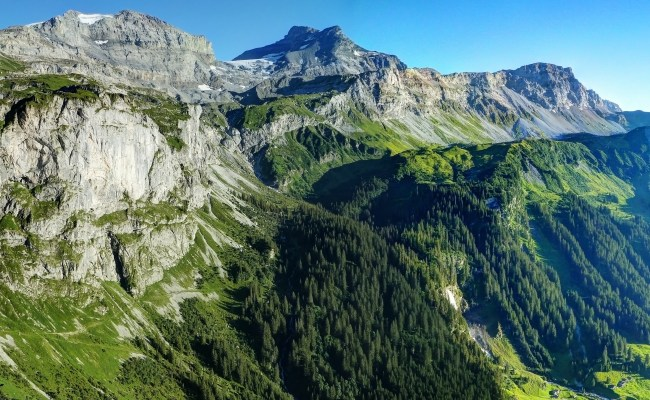 Beautiful Mountain Landscape In The Swiss Alps Image