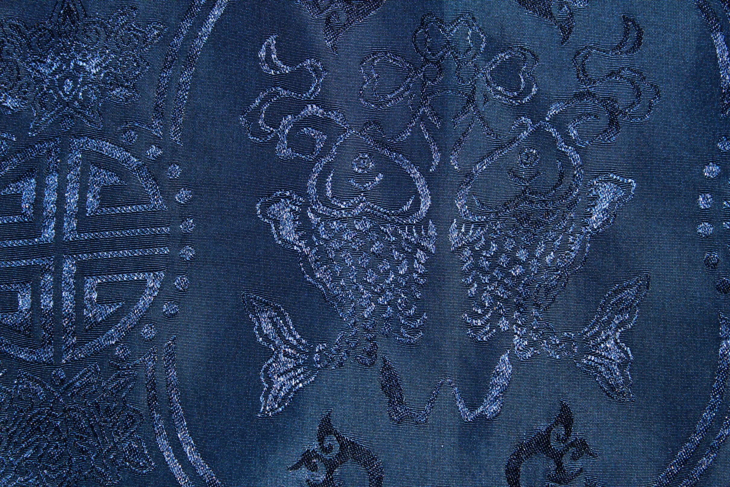 Blue Chinese traditional Fabric  Free Public Domain Stock