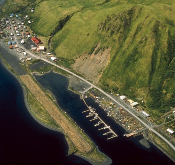 aerial view of harbor landscape