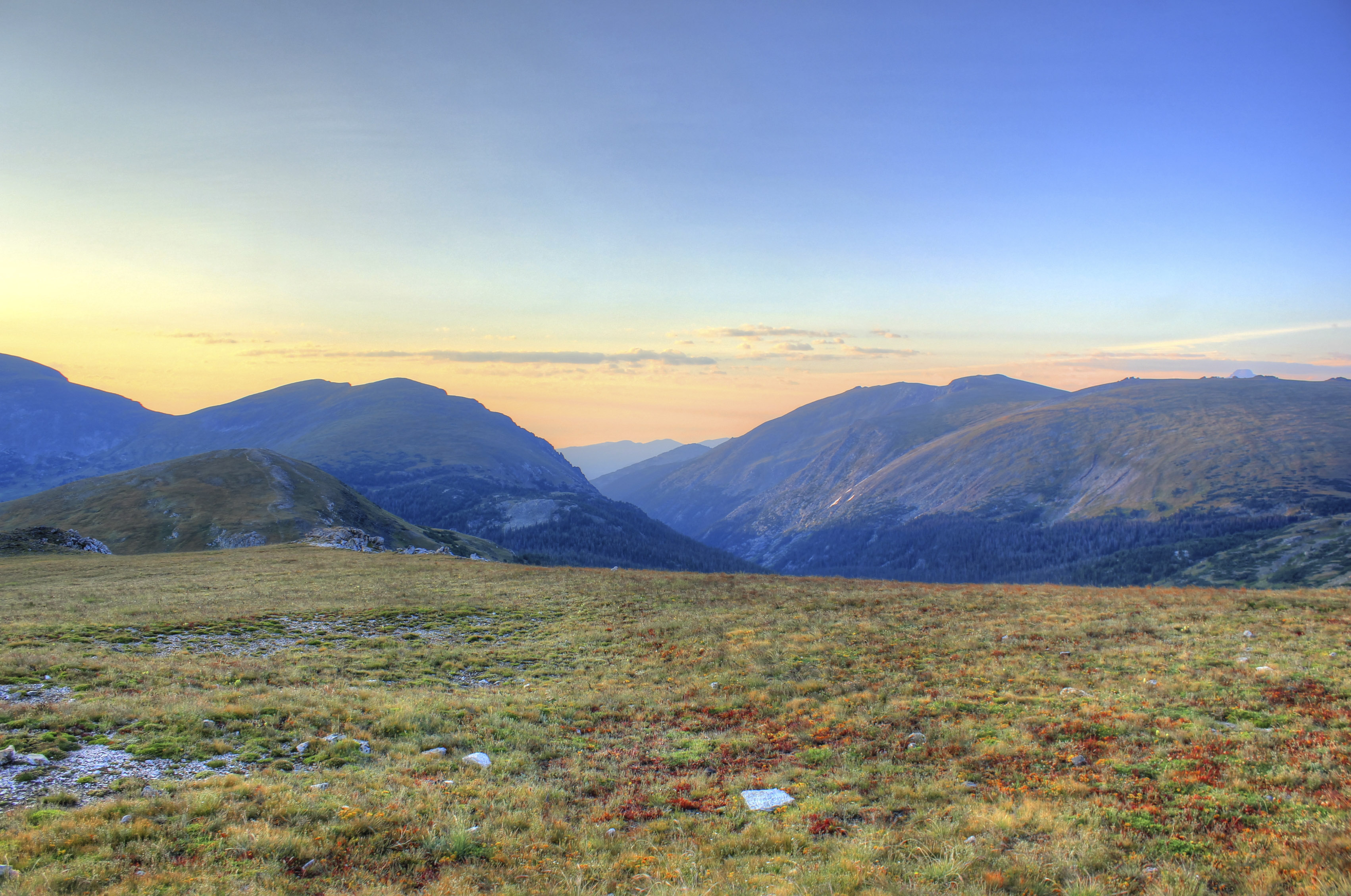 Dawn over the Mountains at Rocky Mountains National Park