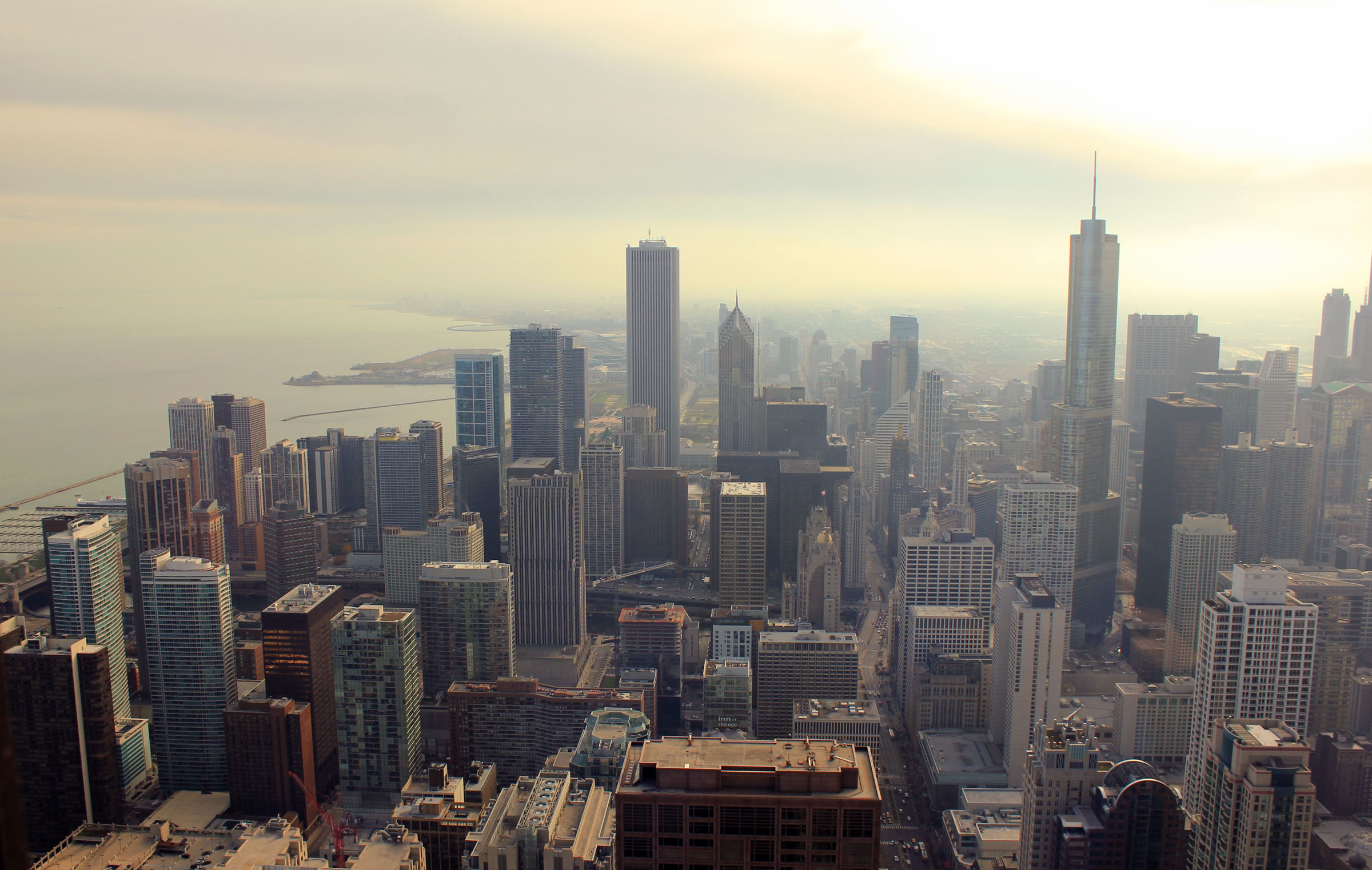 New York City Full Hd Wallpaper Sky View From Signature Room In Chicago Illinois Image
