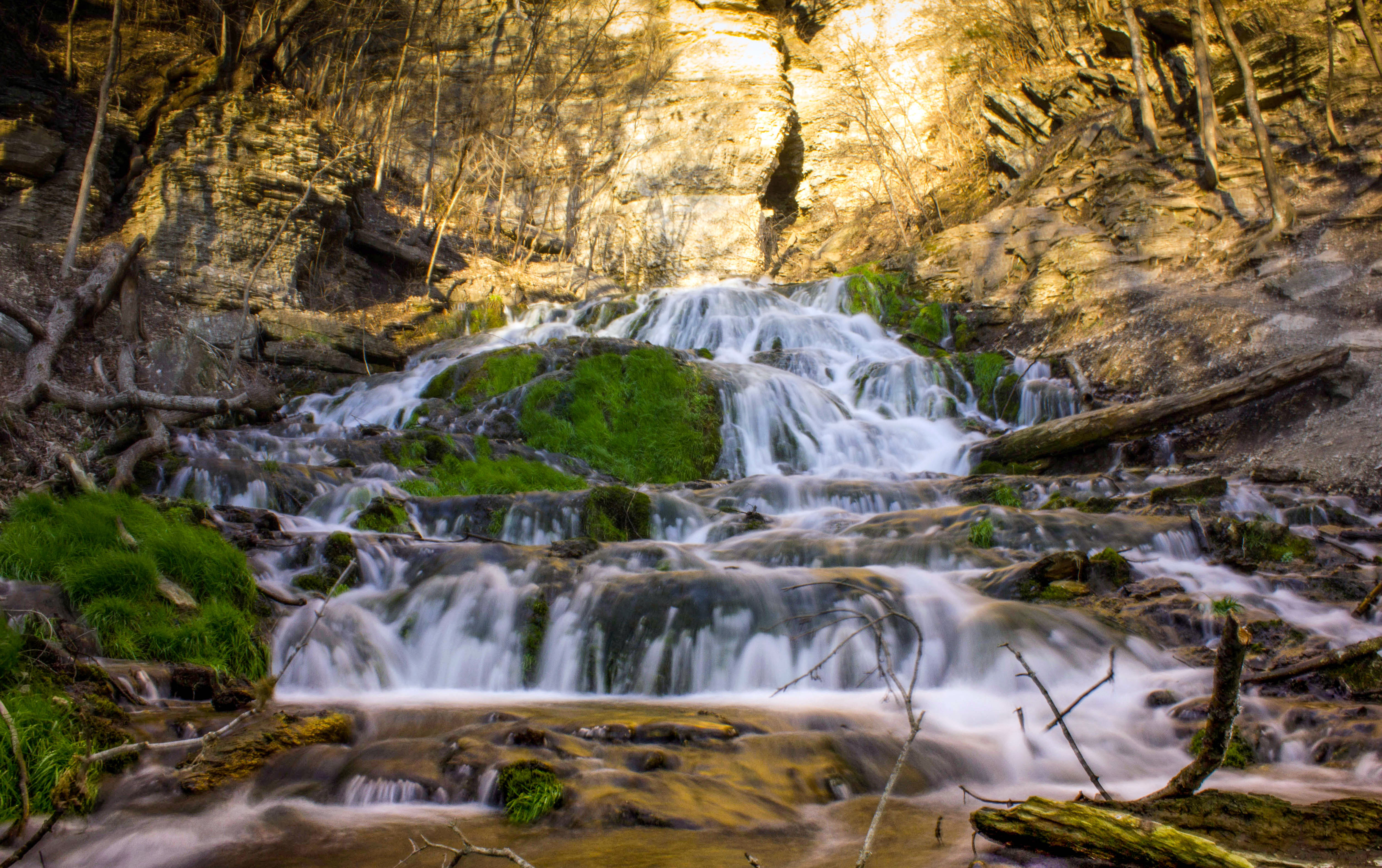 Free Fall Pictures For Wallpaper Dunning Falls Frontal View In Iowa Image Free Stock