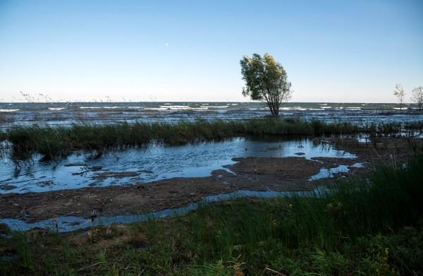 lake michigan landscape and horizon