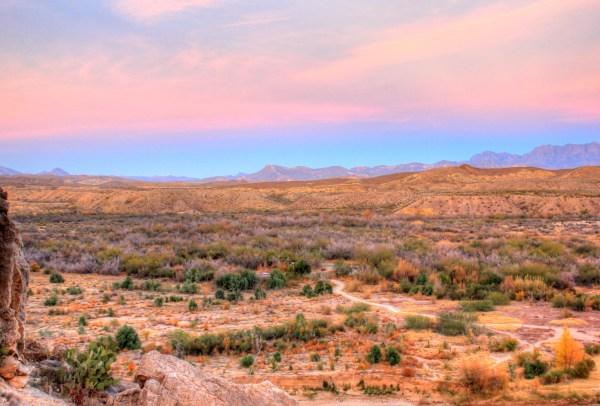 desert landscape dusk big