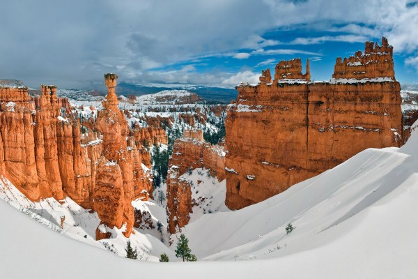 Winter Landscape With Thor' Hammer In Bryce Canyon National Park Utah - Free Stock